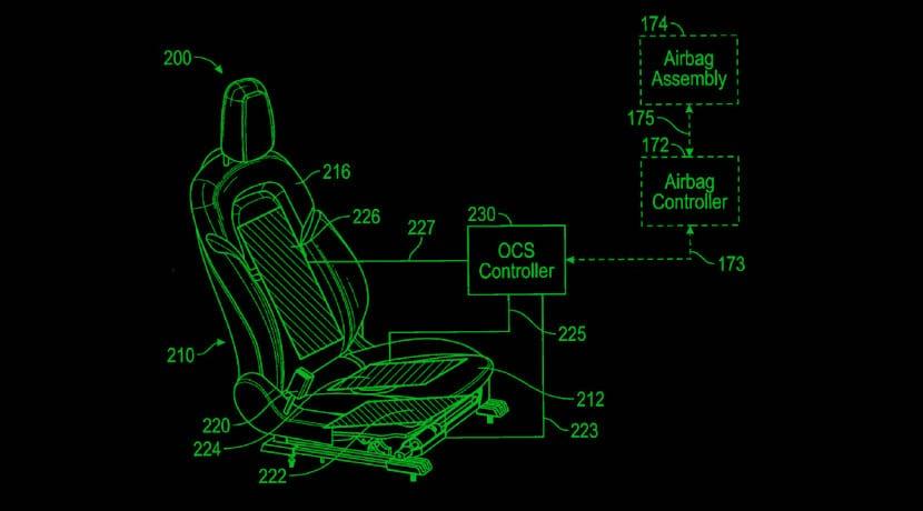 Patente de Tesla del airbag adaptativo según peso y postura