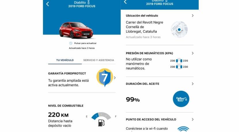 App de Ford mediante número de bastidor