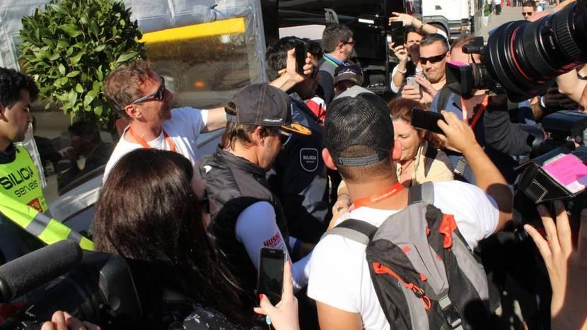 Alonso llega a Barcelona