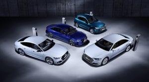 Audi A8, Audi A7, Audi A6 y Audi Q5 híbridos enchufables