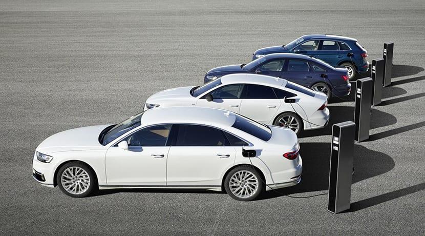 Híbridos enchufables de Audi