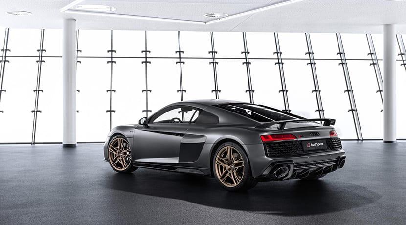 Perfil trasero Audi R8 V10 Decennium