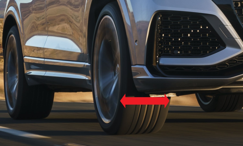 El primer número es la anchura de los neumáticos