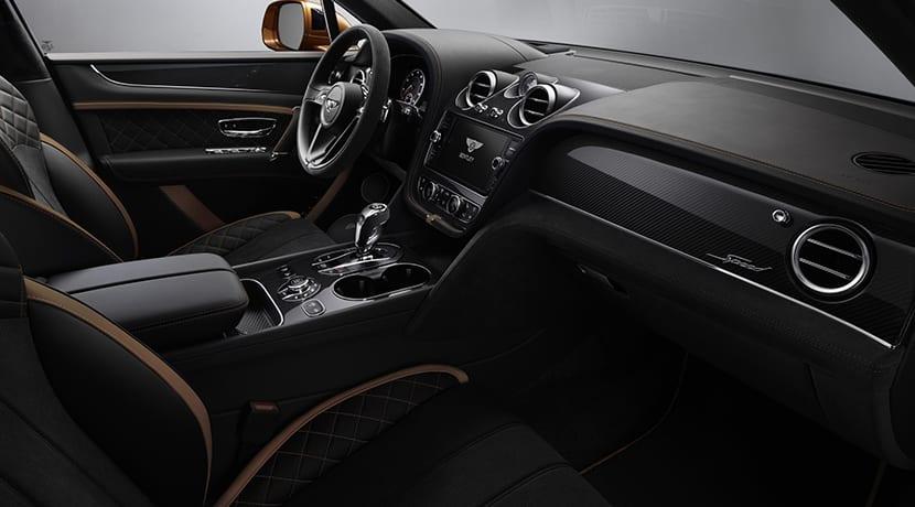 Diseño interior del Bentley Bentayga Speed
