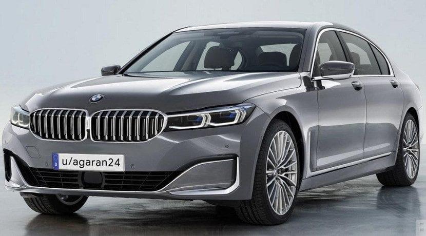 Render del retoque estético en el morro del BMW Serie 7