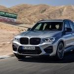 Frontal dinámica BMW X3 M Competition