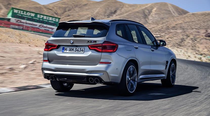 BMW X3 M Competition dinámica trasera