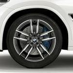 BMW X3 M llanta y frenos