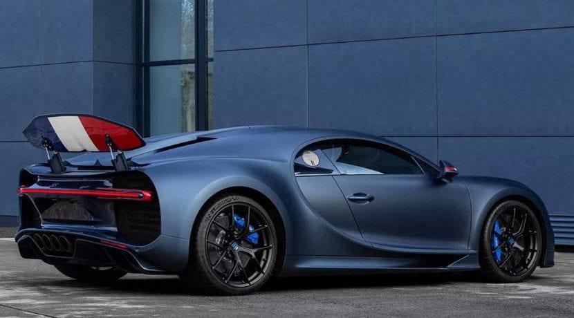 Trasera del Bugatti Chiron Sport '110 ans Bugatti' edition