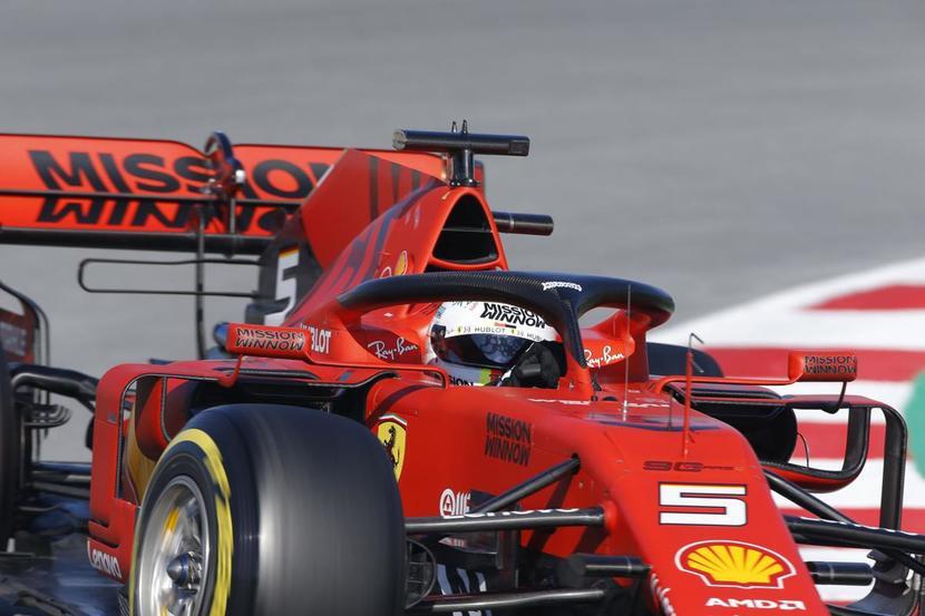 Vettel en el Ferrari de 2019