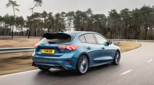 Trasera del Ford Focus ST 2019