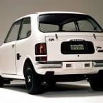 Trasera del Honda Life de 1971 similar al e Prototype