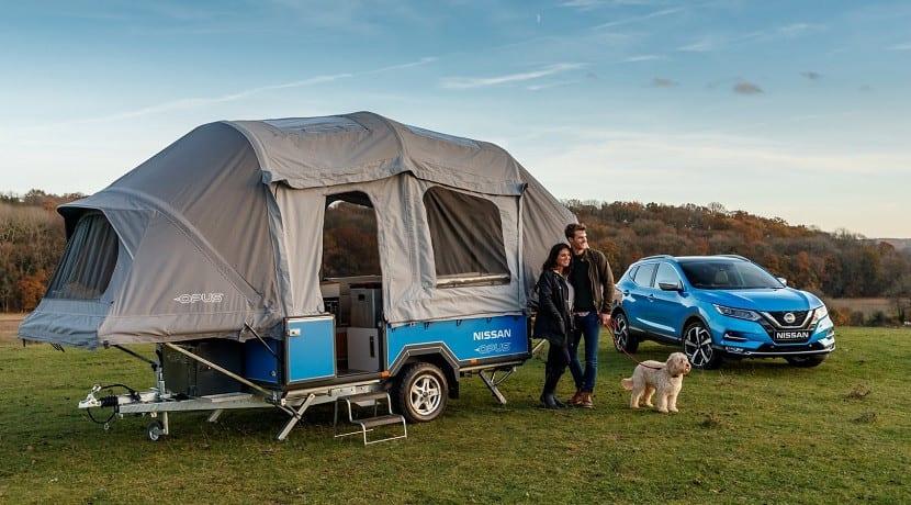 Caravana Nissan X Opus Concept desplegada
