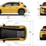 Dimensiones Peugeot 208