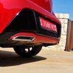 Prueba Toyota Corolla detalle salidas escape