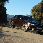 Perfil delantero del Volvo V90 Cross Country