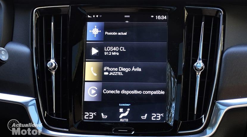 Pantalla digital de Volvo