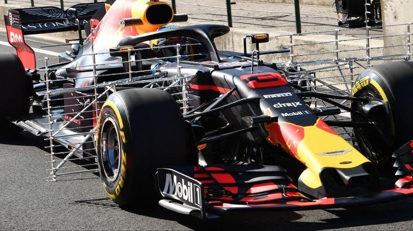 Red Bull con rakes de sensores