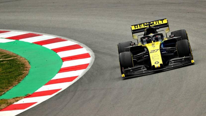 Renault en los test de 2019