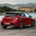Toyota Corolla perfil trasero
