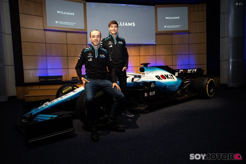 Kubica y Russel junto al Williams