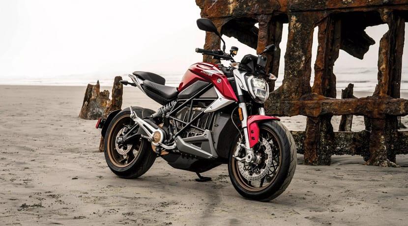 Lateral de la moto eléctrica Zero SR/F