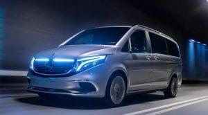 Frontal Mercedes Concept EQV