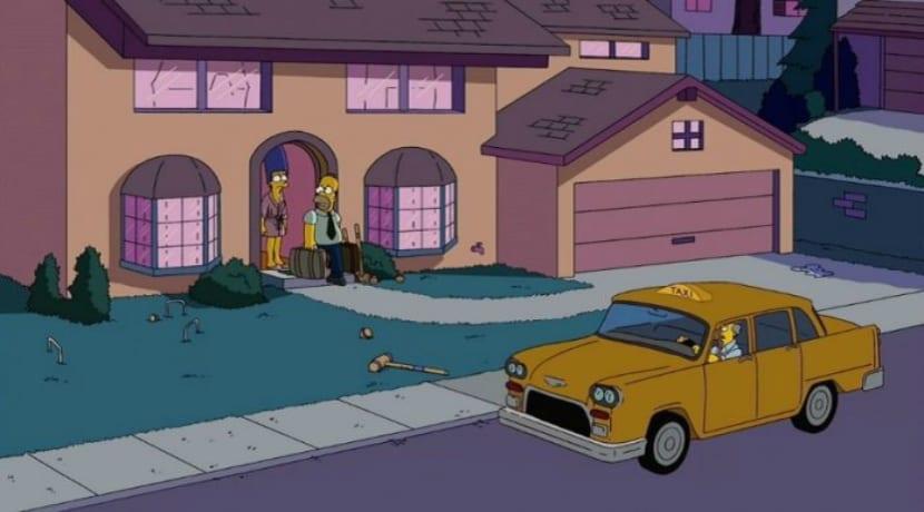 Taxi en la famosa serie de Los Simpsons