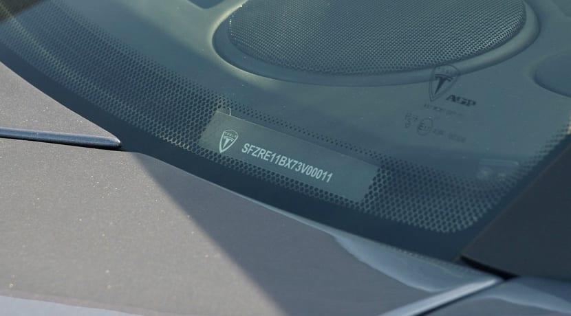 Número bastidor Tesla