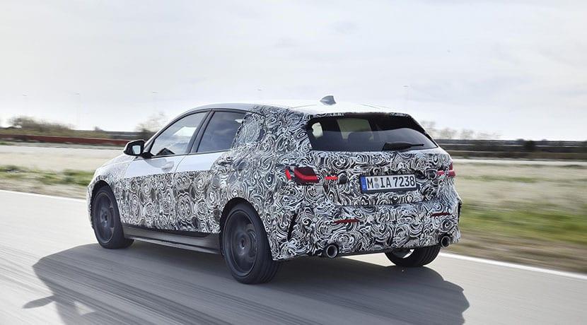 Parte trasera BMW Serie 1 2019 camuflado
