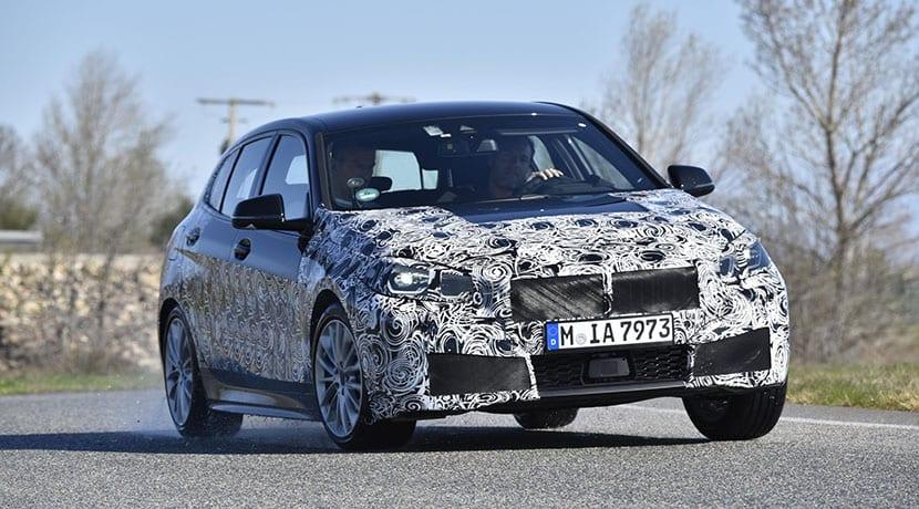 Dinámica circuito BMW Serie 1 2019 camuflado