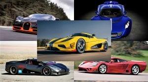 Los coches más rápidos del mundo de verdad (máxima velocidad punta)