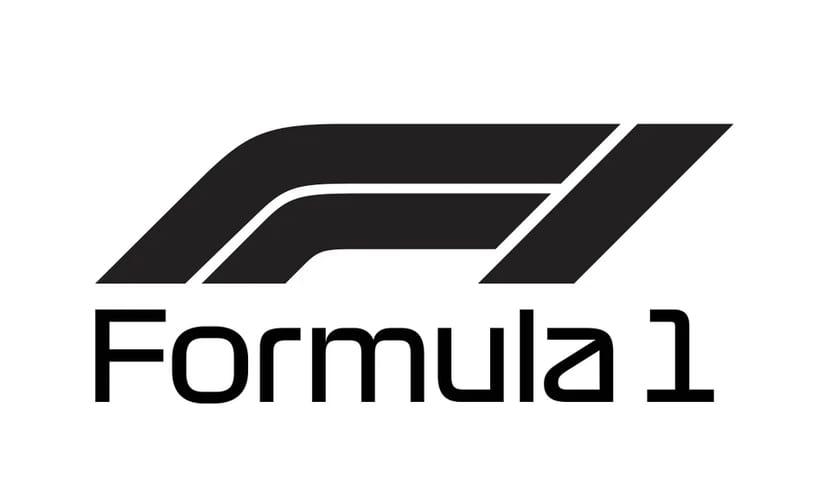 Logo negro de F1