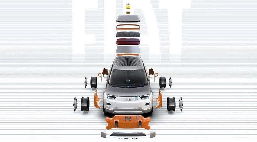 Piezas intercambiables del Fiat Centoventi