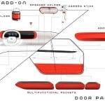 Piezas del salpicadero del Fiat Centoventi