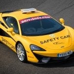 El McLaren 540C Coupé Safety Car de 2017