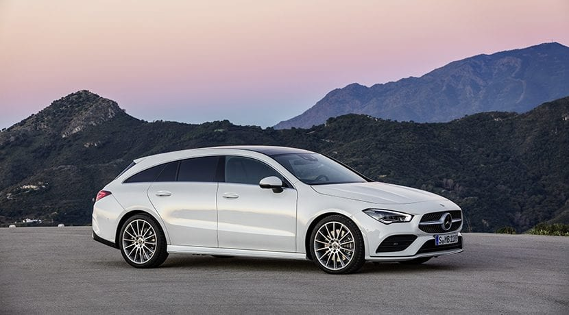 perfil lateral Mercedes CLA Shooting Brake