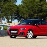 Audi A1 prueba perfil delantero