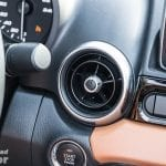 Salida de aire del Fiat 124 Spider Lusso
