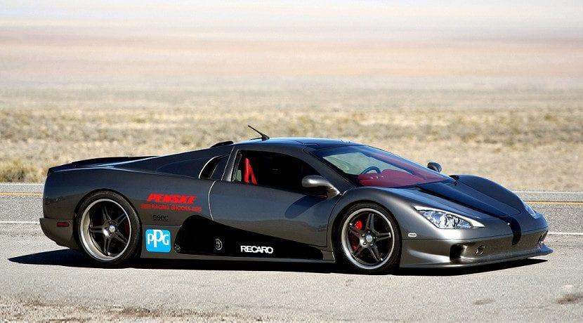 Shelby Super Cars Ultimate Aero el día de su récord de velocidad. Sigue siendo el cuarto coche más rápido del mundo