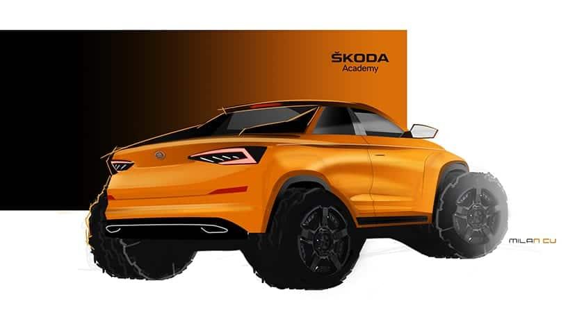Skoda Kodiaq Pick-up prototipo teaser