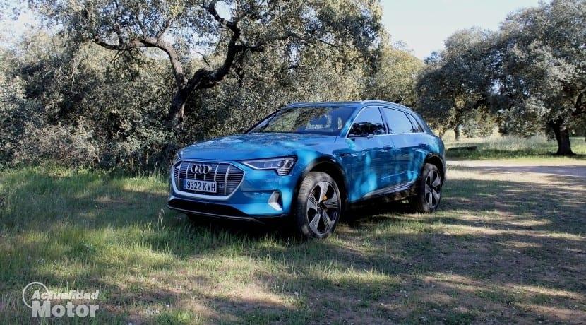 Audi e-tron vista lateral delantera