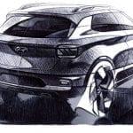 Hyundai Venue boceto exterior trasero