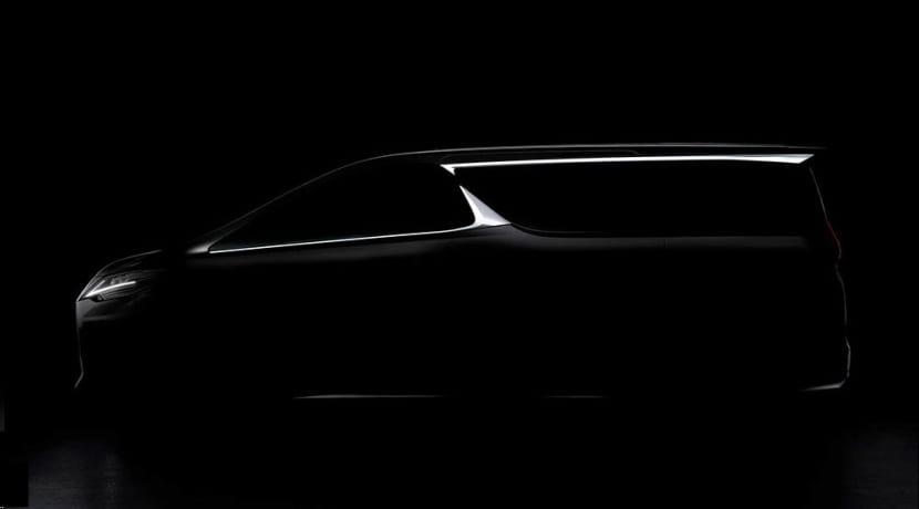 Lexus LM MPV teaser Shanghai Auto Show