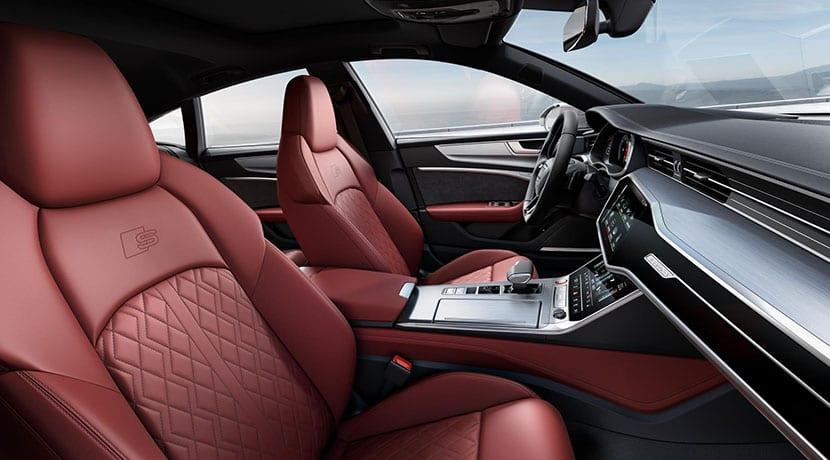Interior rojo Audi S7 Sportback TDI