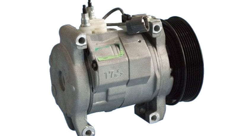Compresor del aire acondicionado de un coche