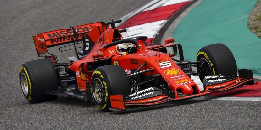 Vettel en el Ferrari