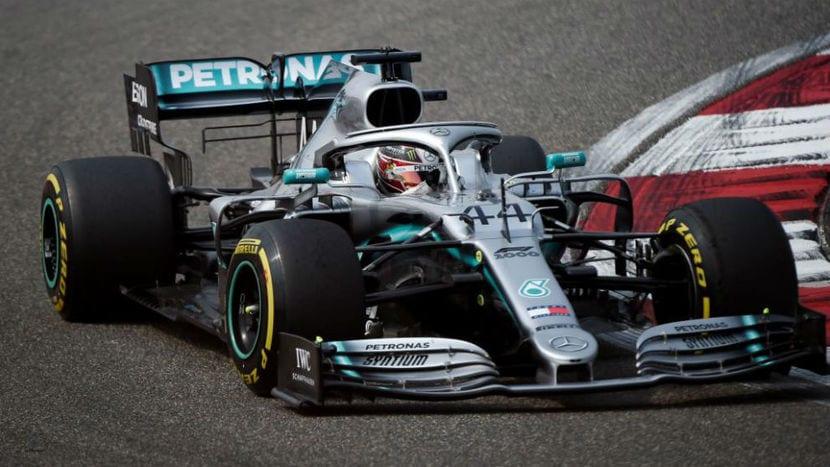 Lewis Hamilton en el Mercedes
