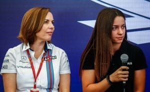 Marta García junto a Claire Williams