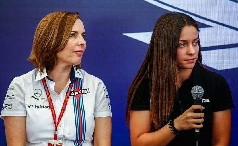 Marta García junto a Claire Williams